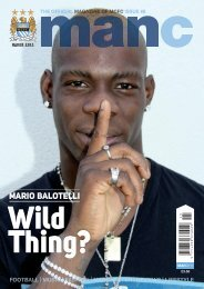 the official magazine of mcfc issue #8 - Mario Balotelli