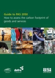 Guide to PAS 2050 How to assess the carbon ... - Aggie Horticulture