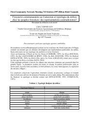 Foresterie communautaire au Cameroun et typologie du milieu
