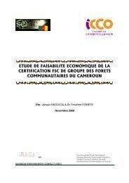 etude de faisabilite economique de la certification fsc de groupe des ...