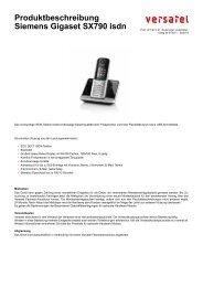 Produktbeschreibung Siemens Gigaset SX790 isdn - BORnet