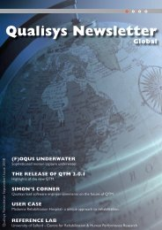 Qualisys Newsletter 2008