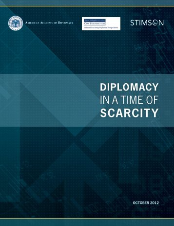 SCaRCiTy - The American Academy of Diplomacy