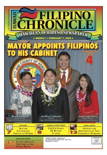 02/07/2009 - Hawaii-Filipino Chronicle