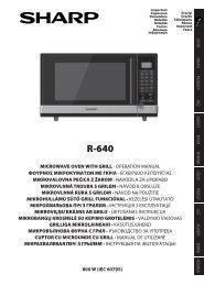 R-640 Operation-Manual GB - Sharp