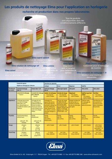 Les produits de nettoyage Elma pour l ... - Elma Gmbh & Co. KG