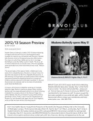 2012/13 Season Preview - Seattle Opera