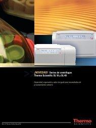 ¡NOVEDAD! Series de centrífugas Thermo Scientific SL 16 y SL 40