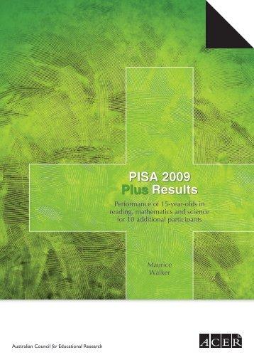 PISA 2009 Plus Results