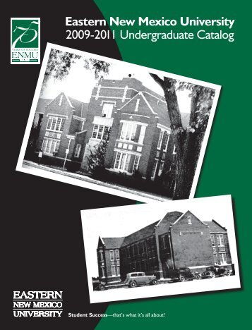 Undergraduate Catalog - Eastern New Mexico University