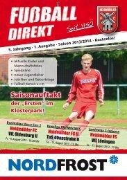 Heft 1 Saison 2013/14 - Heidmühler FC