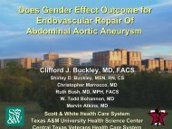Does Gender Effect Outcome for Endovascular Repair Of Abdominal ...