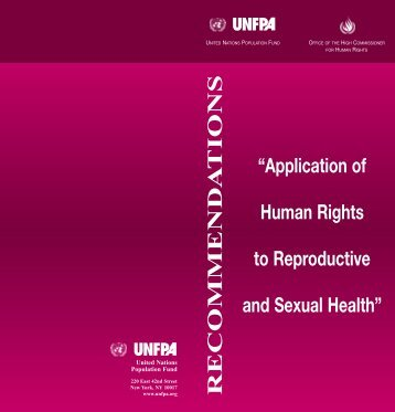 Application of Human Rights to Reproductive and Sexual Health