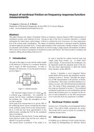 Impact of nonlinear friction on frequency response function ...