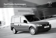 Opel Combo Kastenwagen - Opel-Infos.de