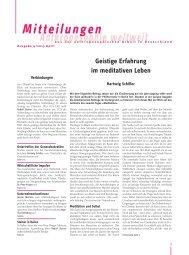 Geistige Erfahrung - Anthroposophische Gesellschaft in Deutschland