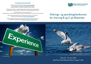 Erfarings- og spredningskonferanse for Interreg B og C ... - Catch-MR