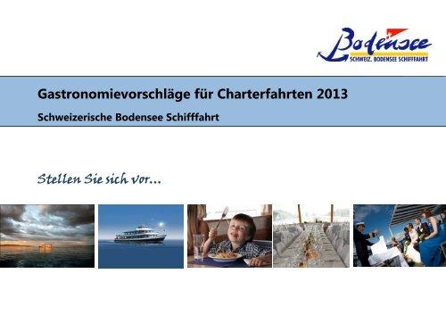 Gastronomievorschläge Charter 2013 - Schweizerische Bodensee ...