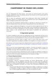 CHAMPIONNAT DE FRANCE DES JEUNES - Fédération Française ...