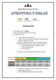 PAQUETE AVENTURA Y RELAX 13 06 AL 12 10 09