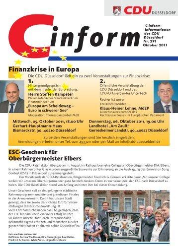1. 2. Finanzkrise in Europa - CDU Düsseldorf