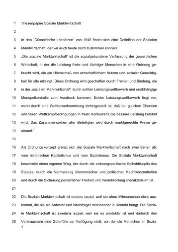 ThesenpapierII b - Soziale Marktwirtschaft _Dr ... - CDU Düsseldorf