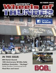 to view the October 2010 Issue - Wheels of Thunder