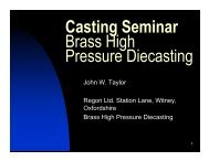 Brass high Pressure Diecasting