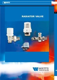 RADIATOR VALVE - Watts Industries