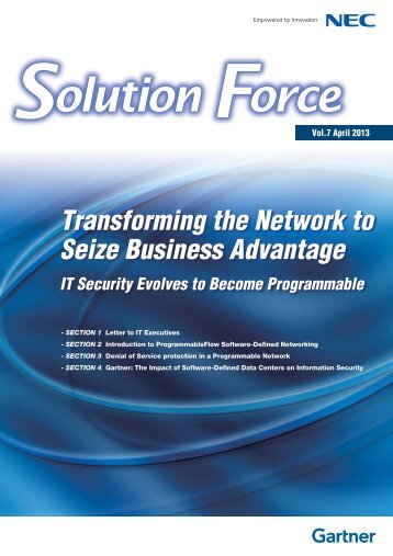 Transforming the Network to Seize Business Advantage IT ... - Nec