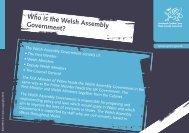 Pwy yw Llywodraeth Cynulliad Cymru? - Pupil Voice Wales