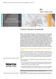 Analyse de marché - BNY Mellon Asset Management