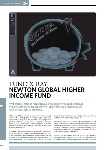 fund x-ray newton global higher income fund - BNY Mellon Asset ...