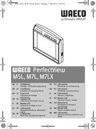 PerfectView M5L, M7L, M7LX - Waeco