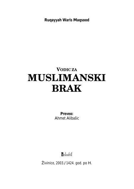 muslimanska mjesta za upoznavanje i brak