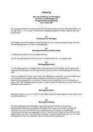 Satzung über Ausbaubeiträge für Wirtschaftswege der Gemeinde ...