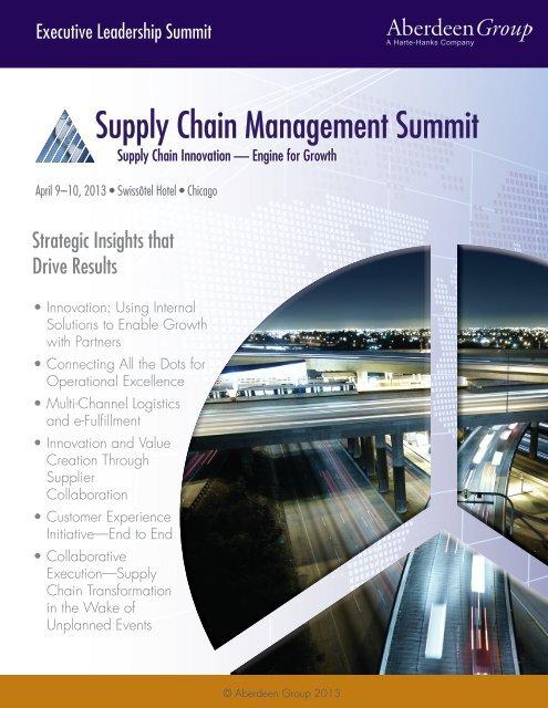 SCM2013-ProgramGuide - Summit - Aberdeen Group