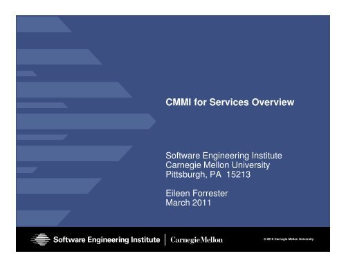CMMI for Services Overview - Software Engineering Institute ...