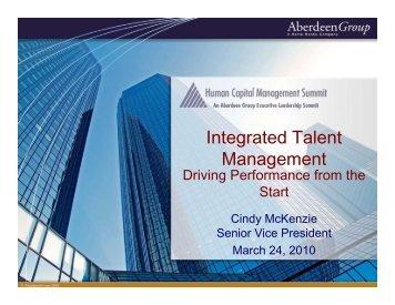I t t d T l t Integrated Talent Management - Summit