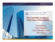 Aberdeen Buying on Total Cost Todd Snelgrove SKF ... - Summit