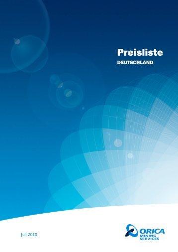 Orica Preisliste-100701_DE_100624 - Orica Mining Services