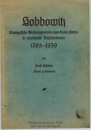 SOBBOWITZ Evangelische Kirchengemeinde vom Guten ... - Danzig