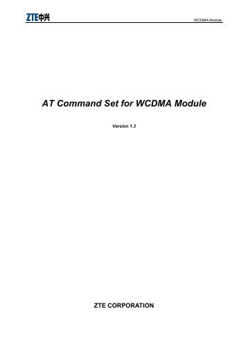 AT Command Set for WCDMA Module - wless.ru