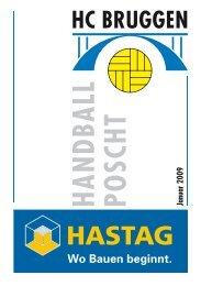 Handball Poscht Ausgabe 01/09 - HC Bruggen