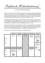 """Projektwoche """"Weihnachtsstimmung"""" - Schule Schüpfheim >Home"""