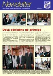 Deux décisions de principe - Skal International Switzerland