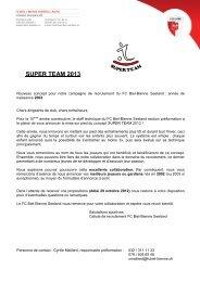 Lettre d'annonce aux Clubs (PDF) - FC Biel/Bienne