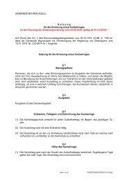 in der Fassung der Änderungssatzung vom 20.09.2010, g