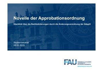 Novelle der Approbationsordnung_28.02.2013 - Studiendekanat ...