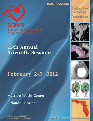 final program - Society of Cardiovascular Magnetic Resonance